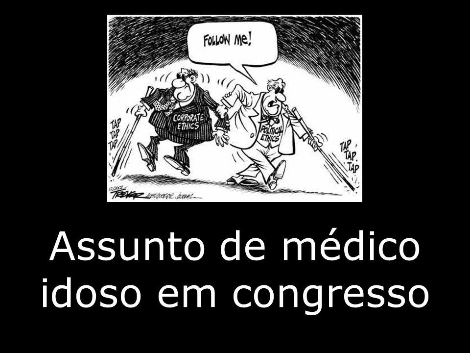 Assunto de médico idoso em congresso