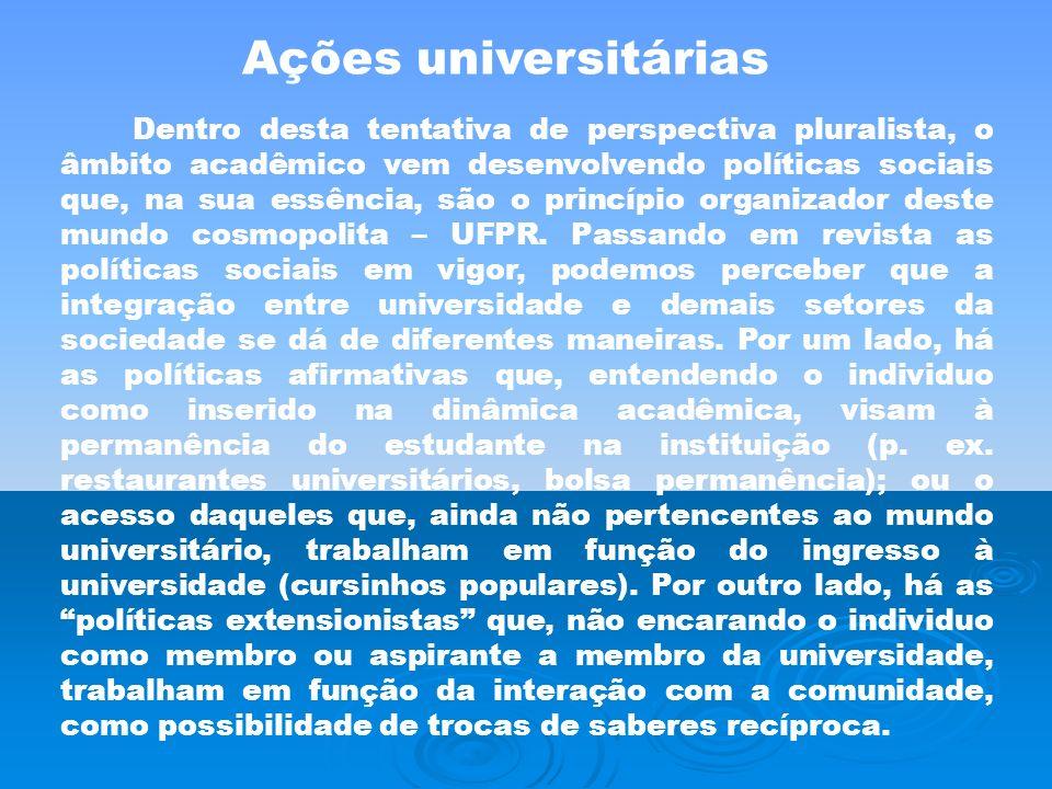 Ações universitárias