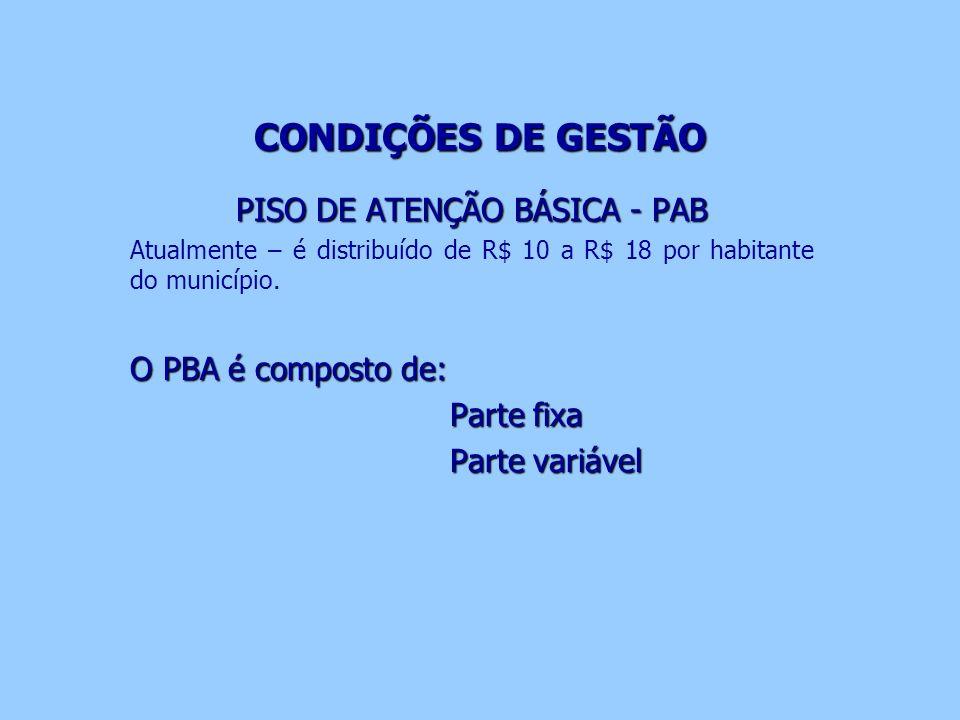 PISO DE ATENÇÃO BÁSICA - PAB