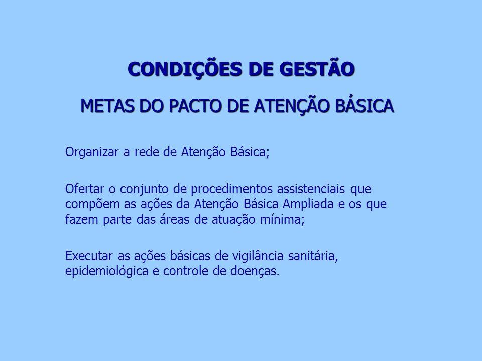 METAS DO PACTO DE ATENÇÃO BÁSICA