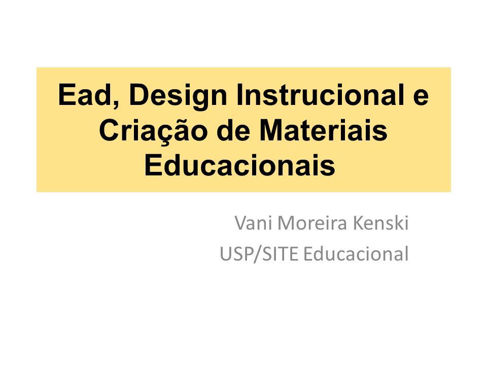 Ead, Design Instrucional e Criação de Materiais Educacionais