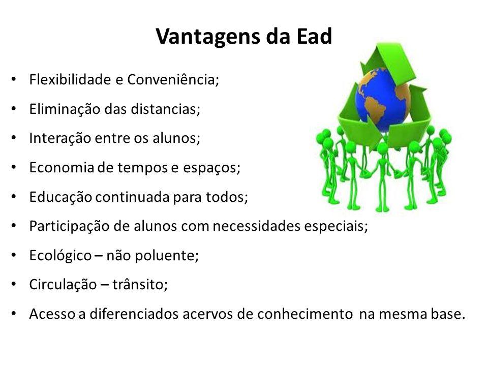 Vantagens da Ead Flexibilidade e Conveniência;