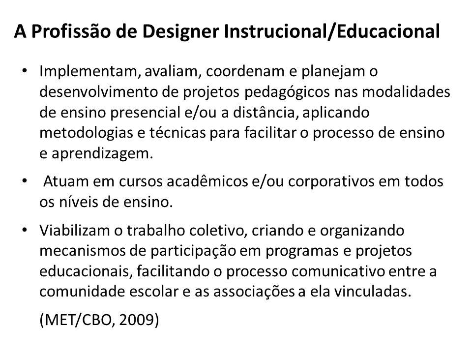 A Profissão de Designer Instrucional/Educacional