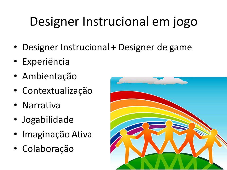 Designer Instrucional em jogo