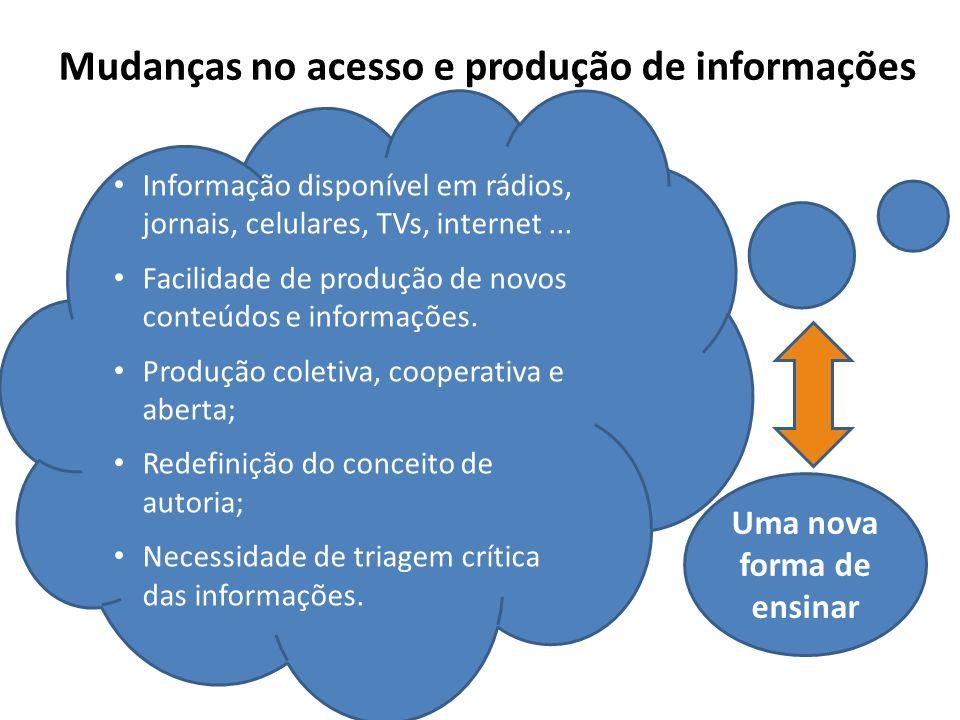 Mudanças no acesso e produção de informações