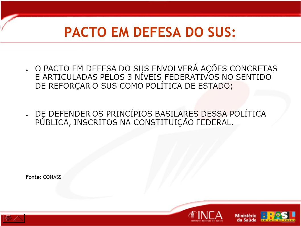 PACTO EM DEFESA DO SUS: