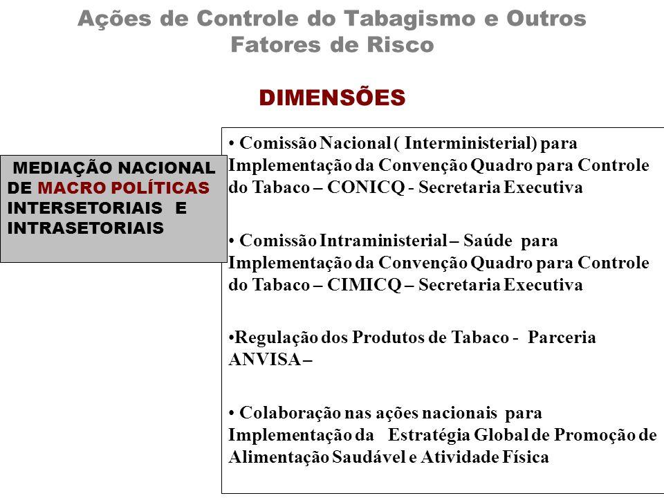 Ações de Controle do Tabagismo e Outros Fatores de Risco DIMENSÕES
