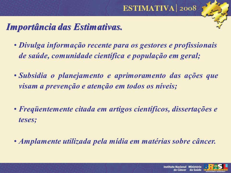 Importância das Estimativas.