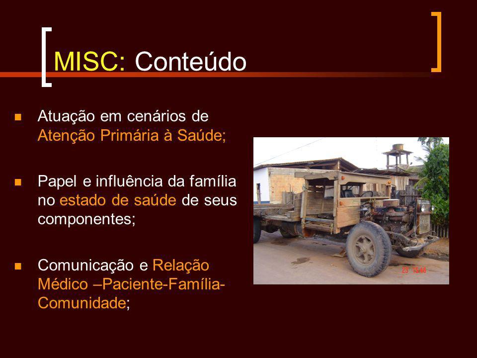 MISC: Conteúdo Atuação em cenários de Atenção Primária à Saúde;
