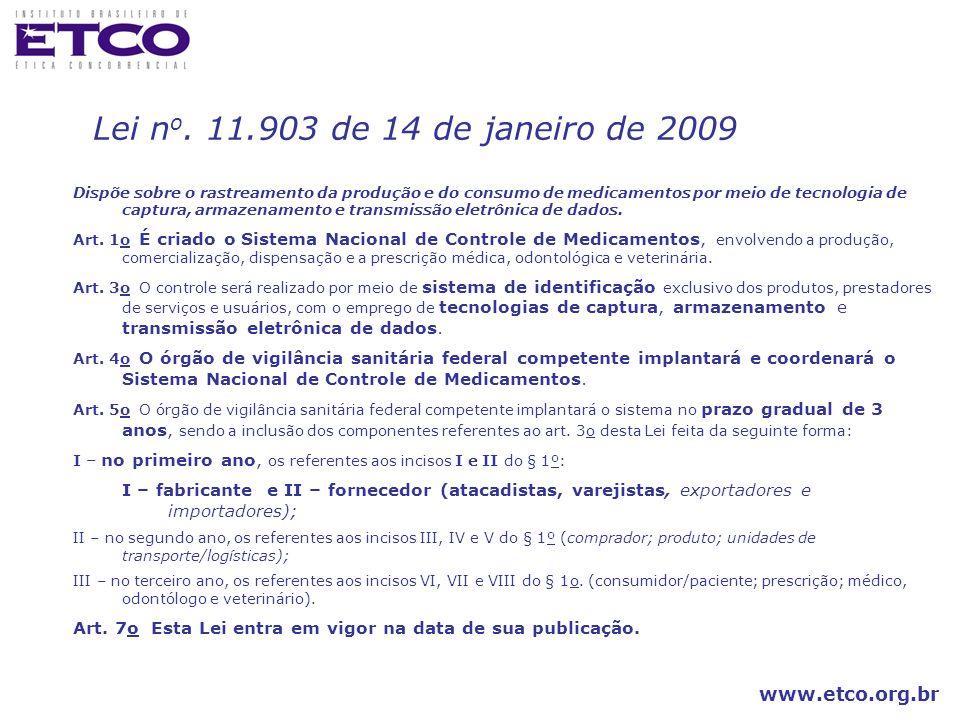 Lei no. 11.903 de 14 de janeiro de 2009