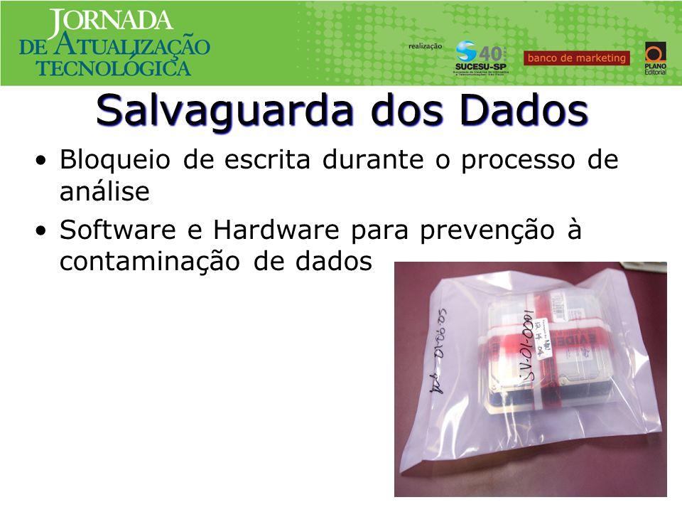 Salvaguarda dos Dados Bloqueio de escrita durante o processo de análise.