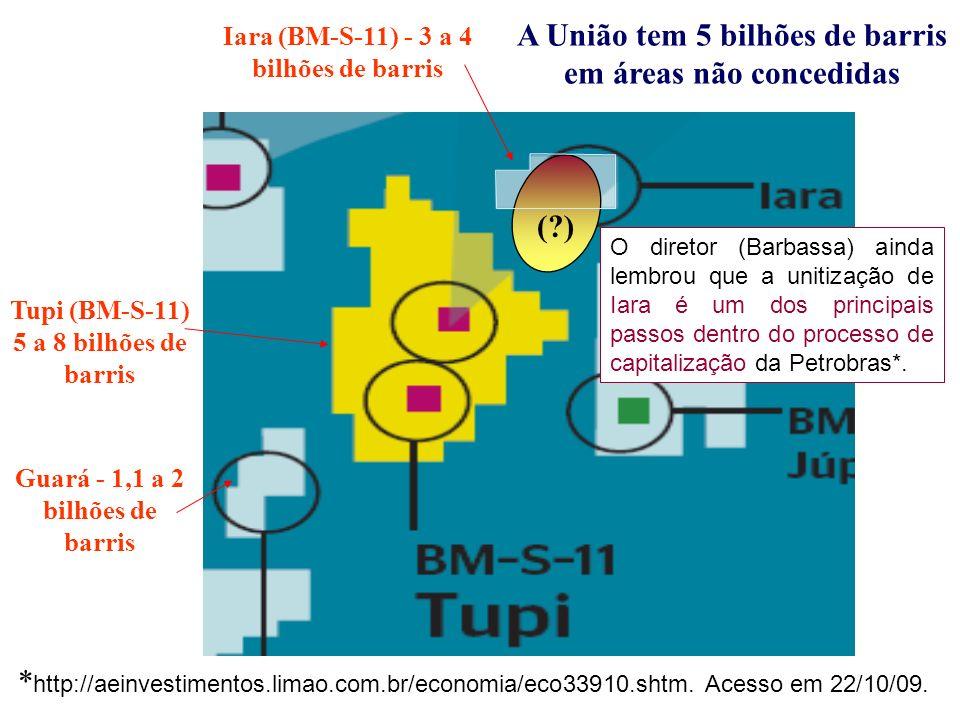 A União tem 5 bilhões de barris em áreas não concedidas ( )
