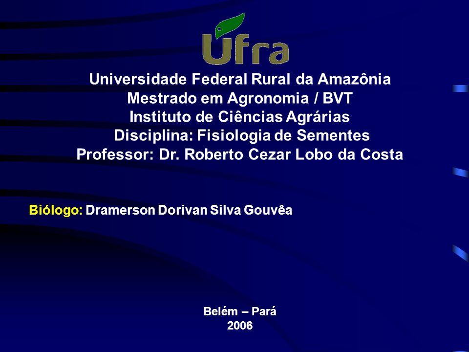 Universidade Federal Rural da Amazônia Mestrado em Agronomia / BVT