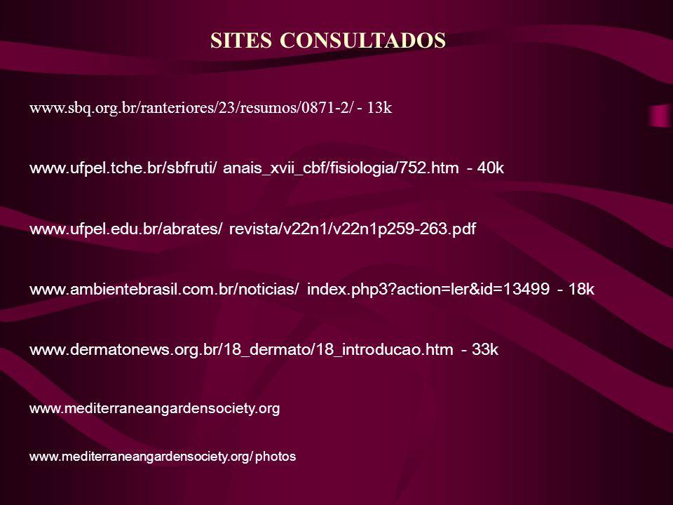SITES CONSULTADOS www.sbq.org.br/ranteriores/23/resumos/0871-2/ - 13k