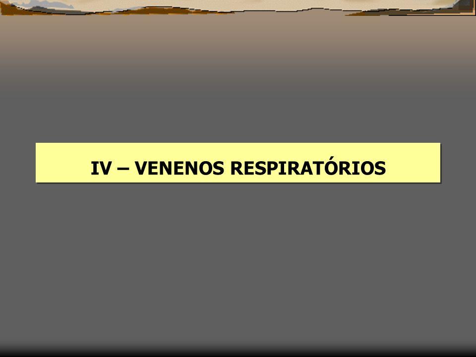 IV – VENENOS RESPIRATÓRIOS