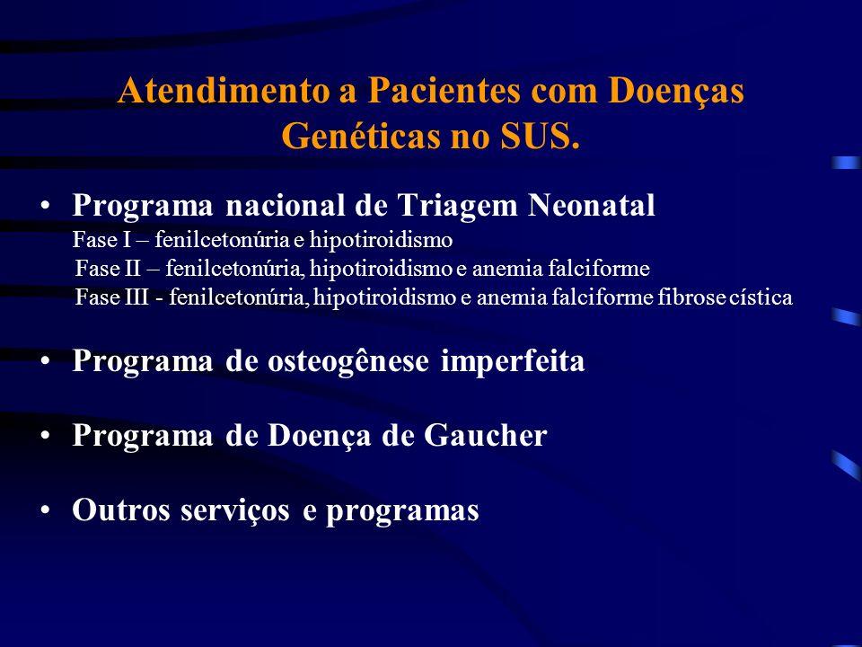 Atendimento a Pacientes com Doenças Genéticas no SUS.