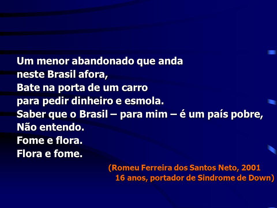 Um menor abandonado que anda neste Brasil afora,
