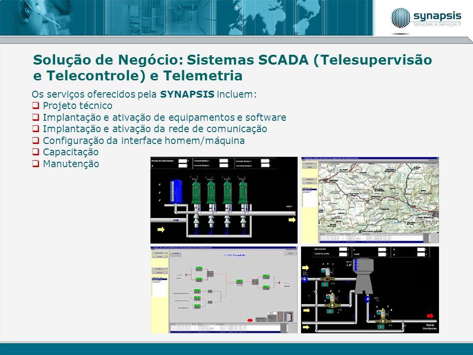Solução de Negócio: Sistemas SCADA (Telesupervisão e Telecontrole) e Telemetria