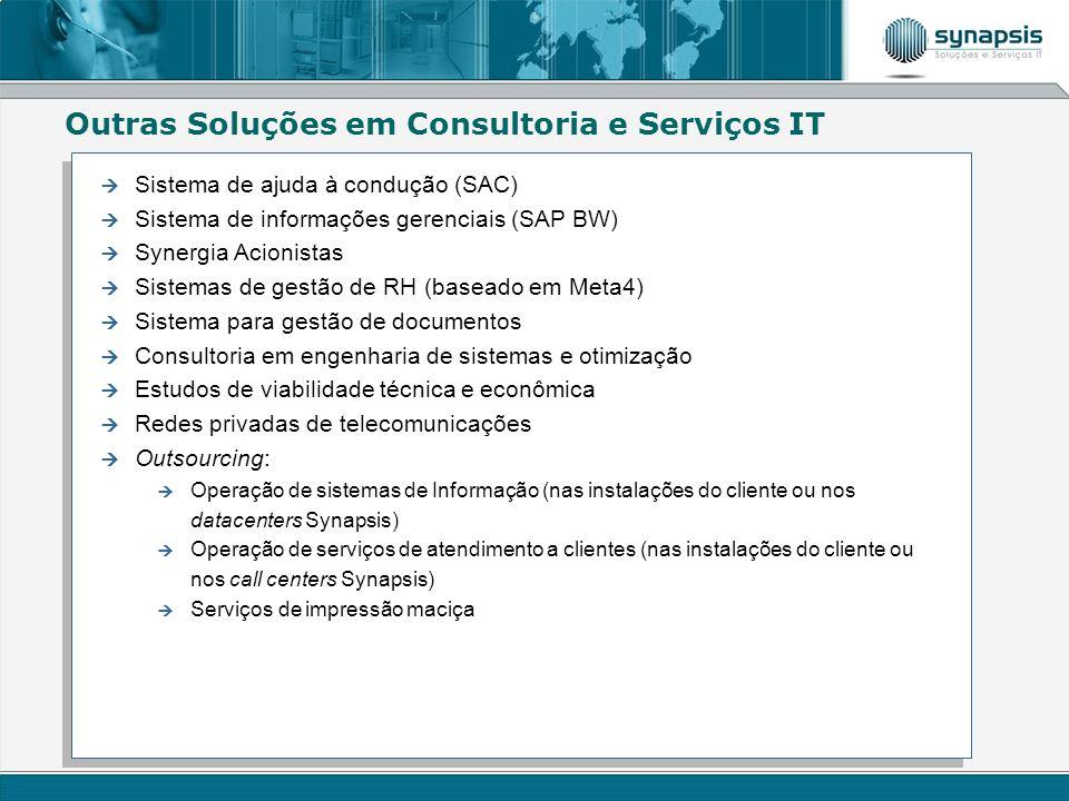 Outras Soluções em Consultoria e Serviços IT