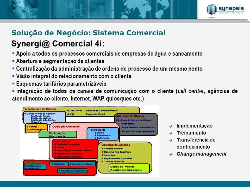 Synergi@ Comercial 4i: Solução de Negócio: Sistema Comercial