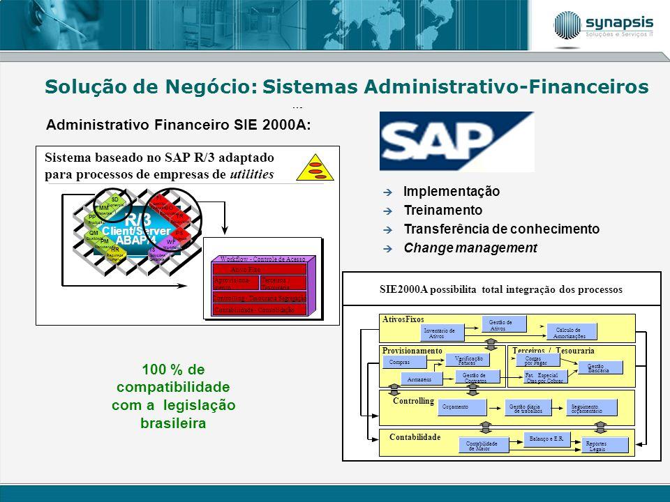 100 % de compatibilidade com a legislação brasileira