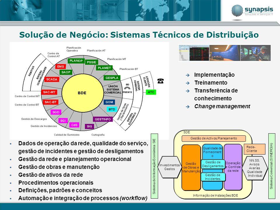 Solução de Negócio: Sistemas Técnicos de Distribuição