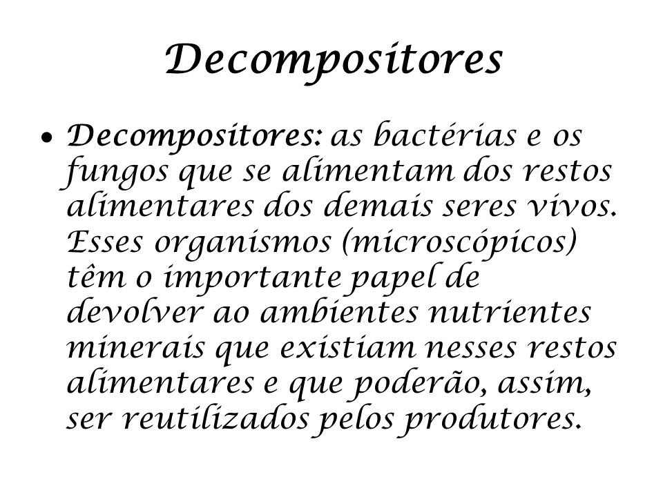 Decompositores