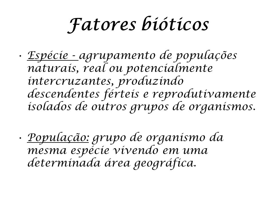 Fatores bióticos