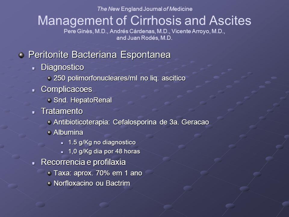 Peritonite Bacteriana Espontanea