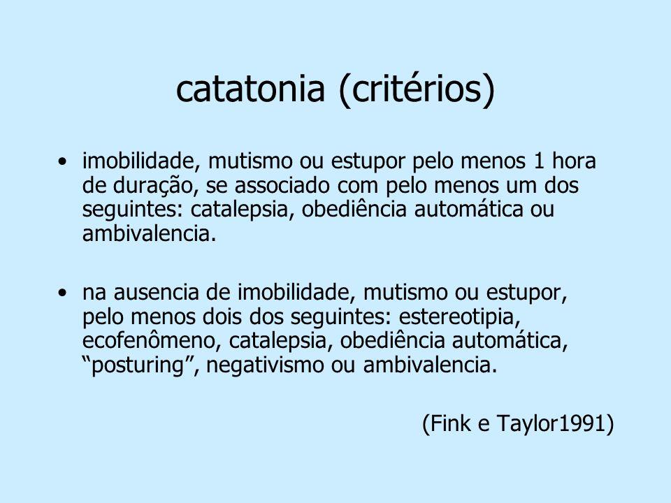 catatonia (critérios)