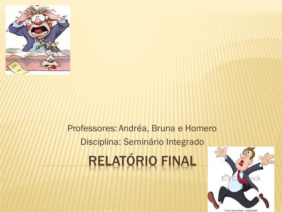 Professores: Andréa, Bruna e Homero Disciplina: Seminário Integrado