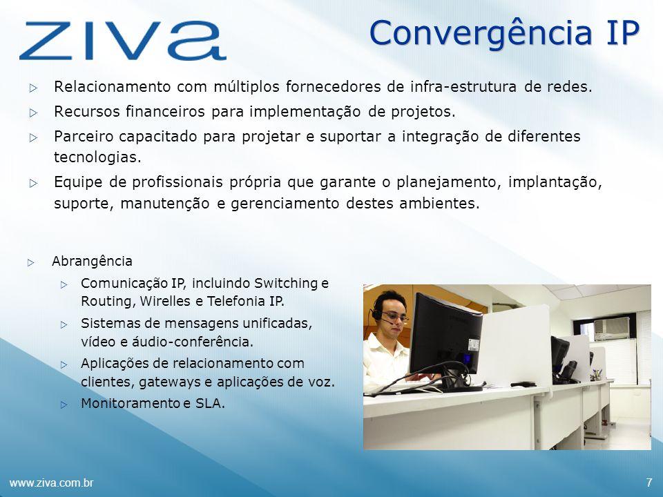Convergência IPRelacionamento com múltiplos fornecedores de infra-estrutura de redes. Recursos financeiros para implementação de projetos.