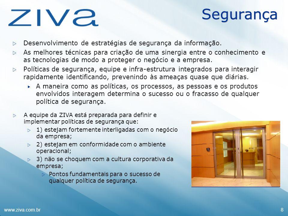Segurança Desenvolvimento de estratégias de segurança da informação.