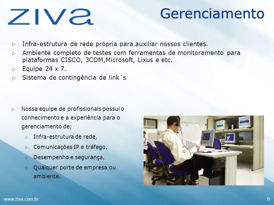 GerenciamentoInfra-estrutura de rede própria para auxiliar nossos clientes.