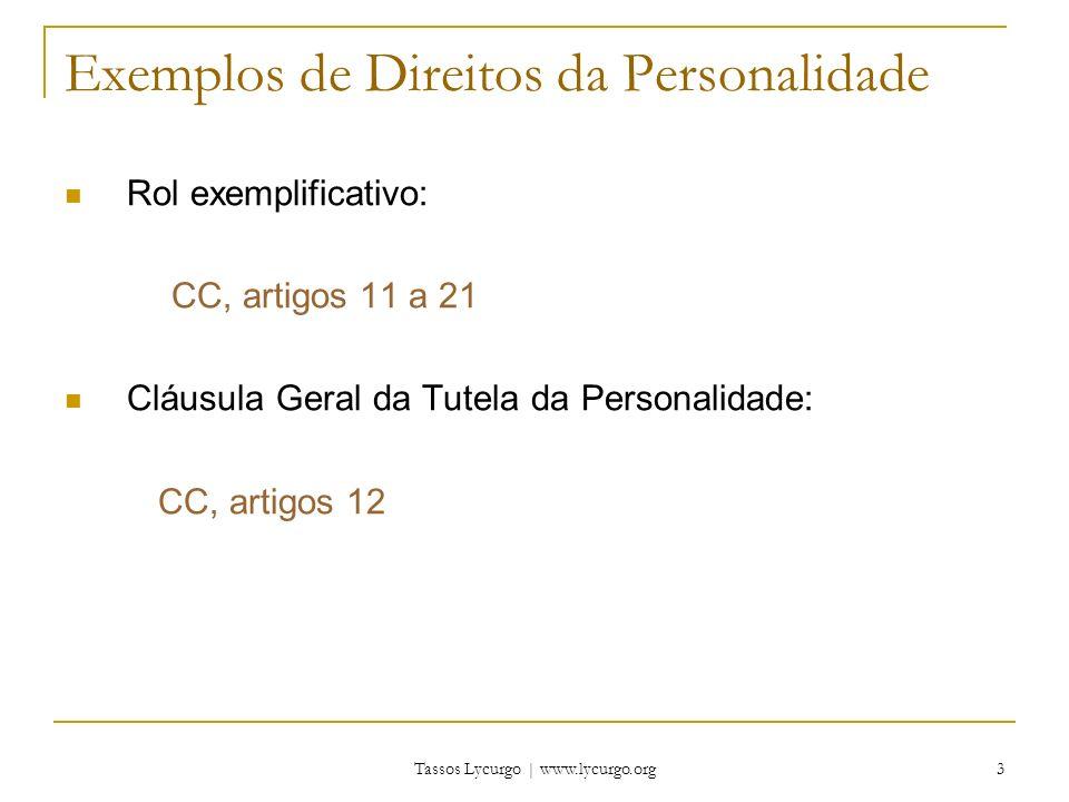 Exemplos de Direitos da Personalidade