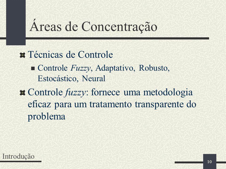 Áreas de Concentração Técnicas de Controle