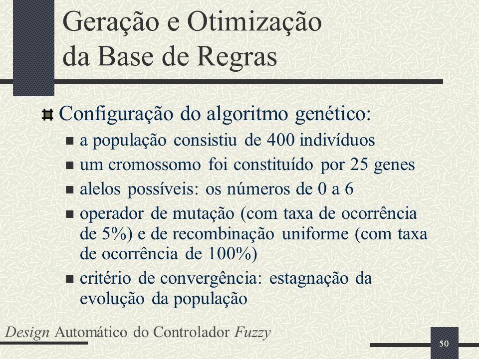 Geração e Otimização da Base de Regras