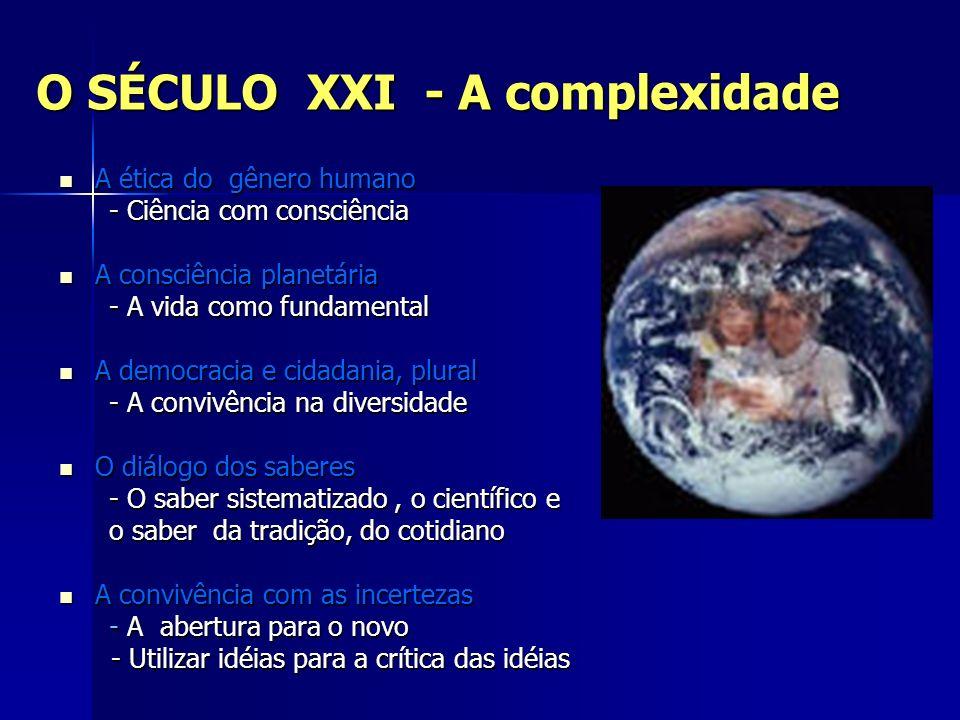 O SÉCULO XXI - A complexidade