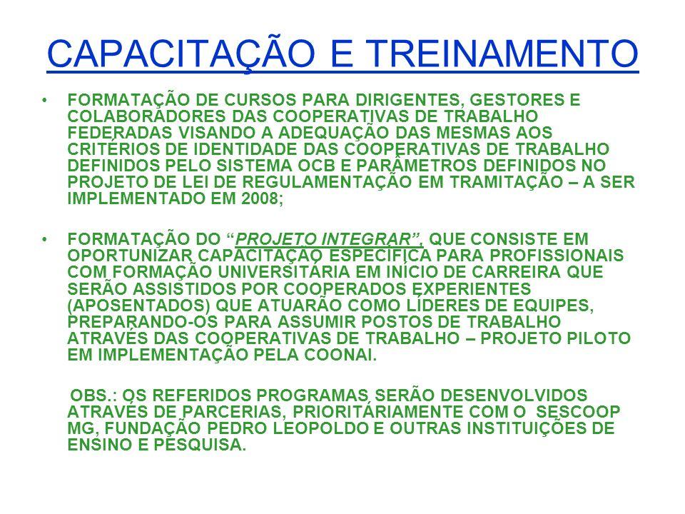 CAPACITAÇÃO E TREINAMENTO