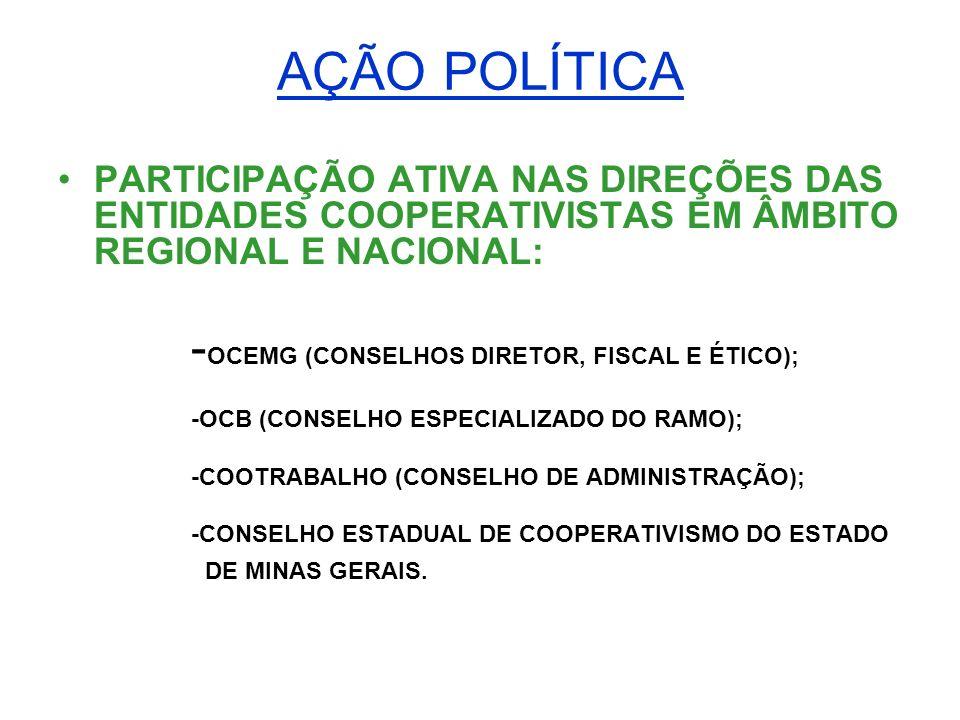 AÇÃO POLÍTICA -OCEMG (CONSELHOS DIRETOR, FISCAL E ÉTICO);