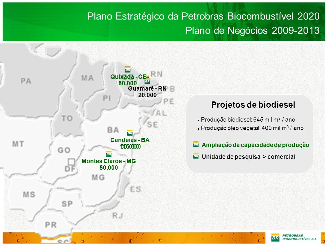 Plano Estratégico da Petrobras Biocombustível 2020