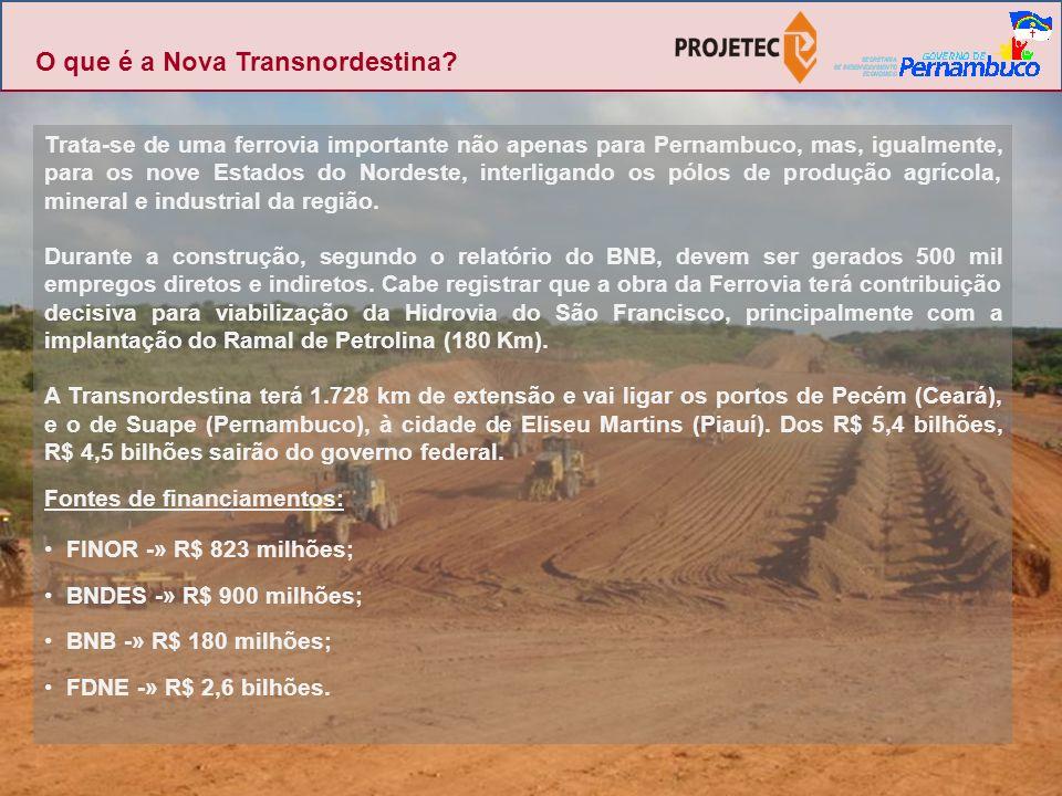 O que é a Nova Transnordestina