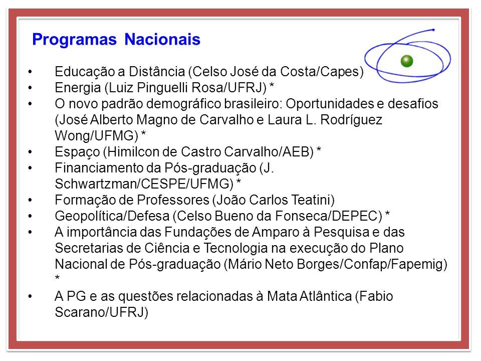 Programas Nacionais Educação a Distância (Celso José da Costa/Capes)
