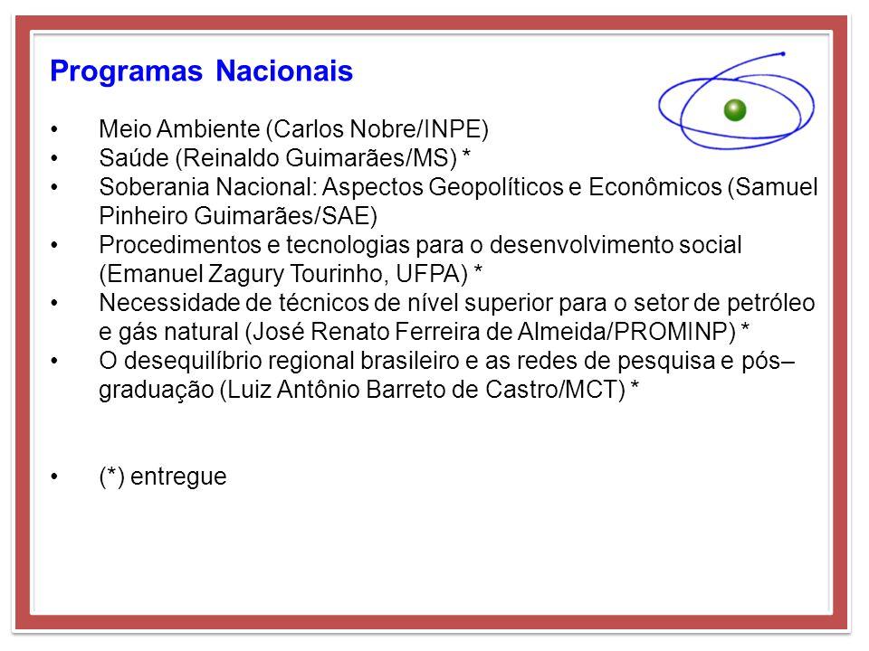 Programas Nacionais Meio Ambiente (Carlos Nobre/INPE)