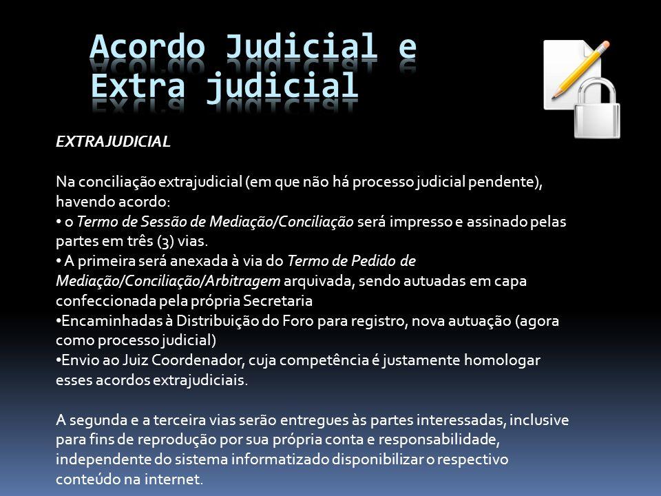 Acordo Judicial e Extra judicial EXTRAJUDICIAL