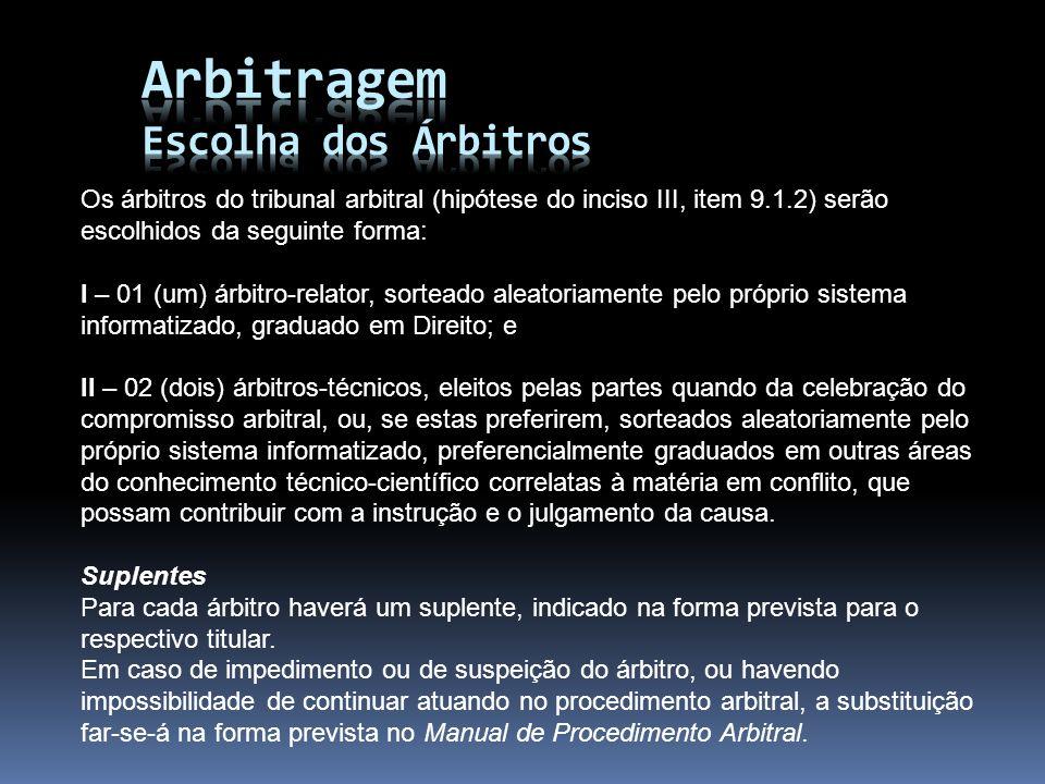 Arbitragem Escolha dos Árbitros