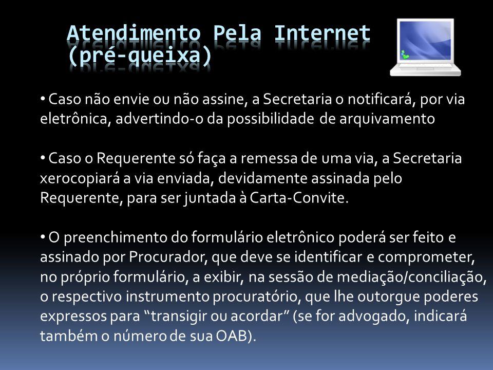 Atendimento Pela Internet (pré-queixa)