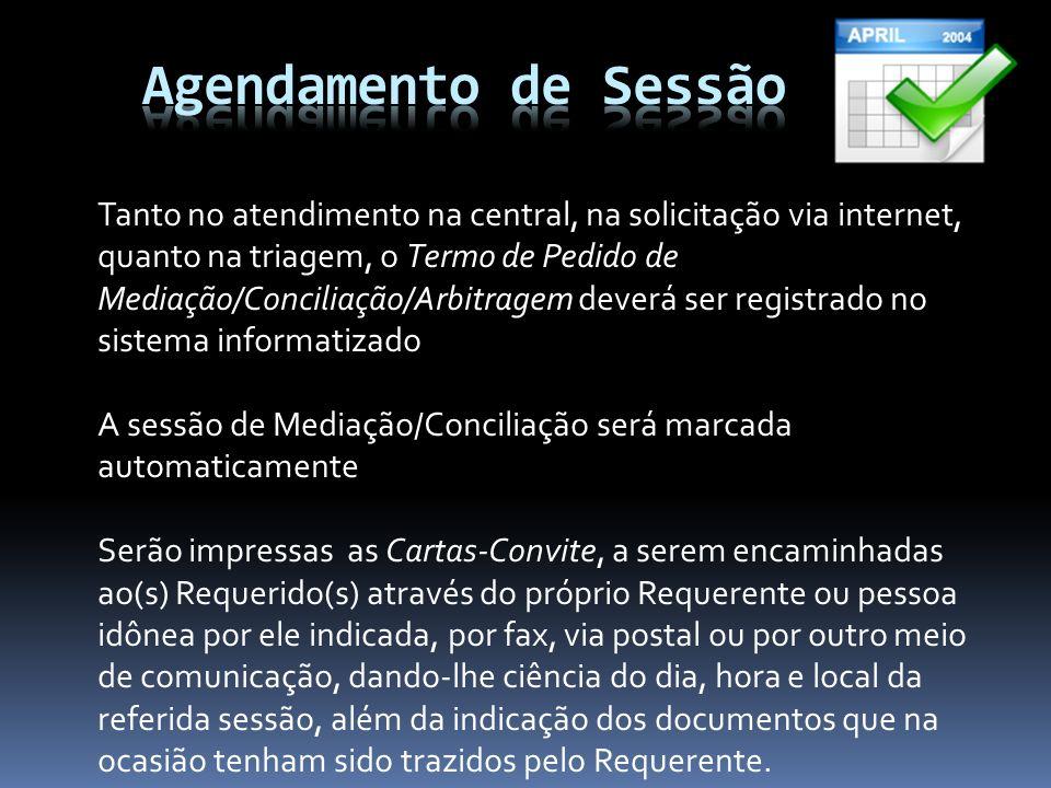 Agendamento de Sessão