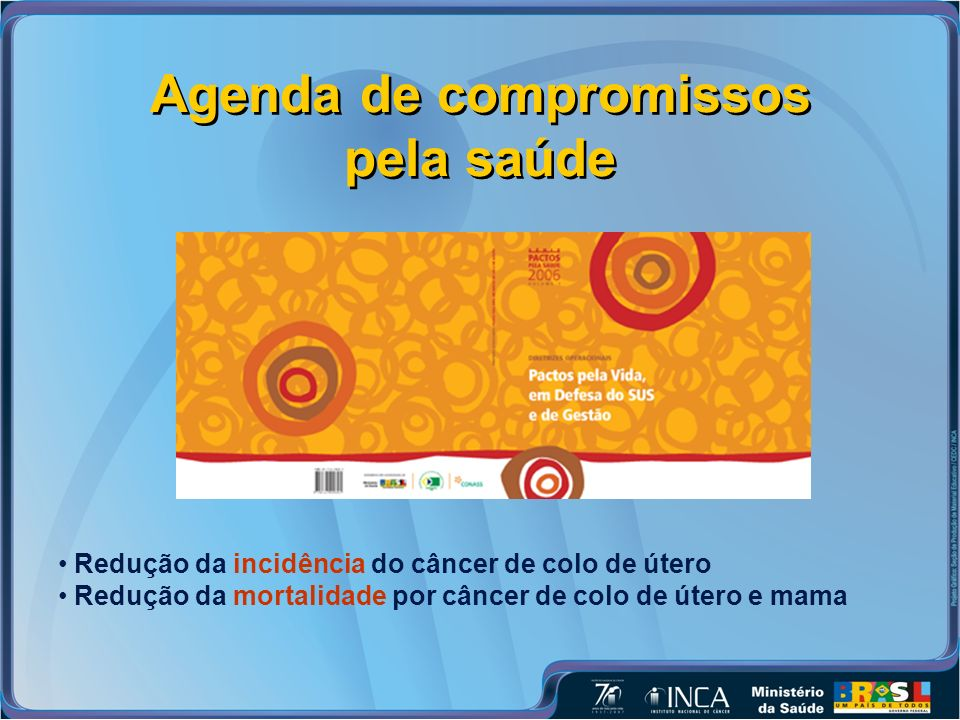 Agenda de compromissos pela saúde