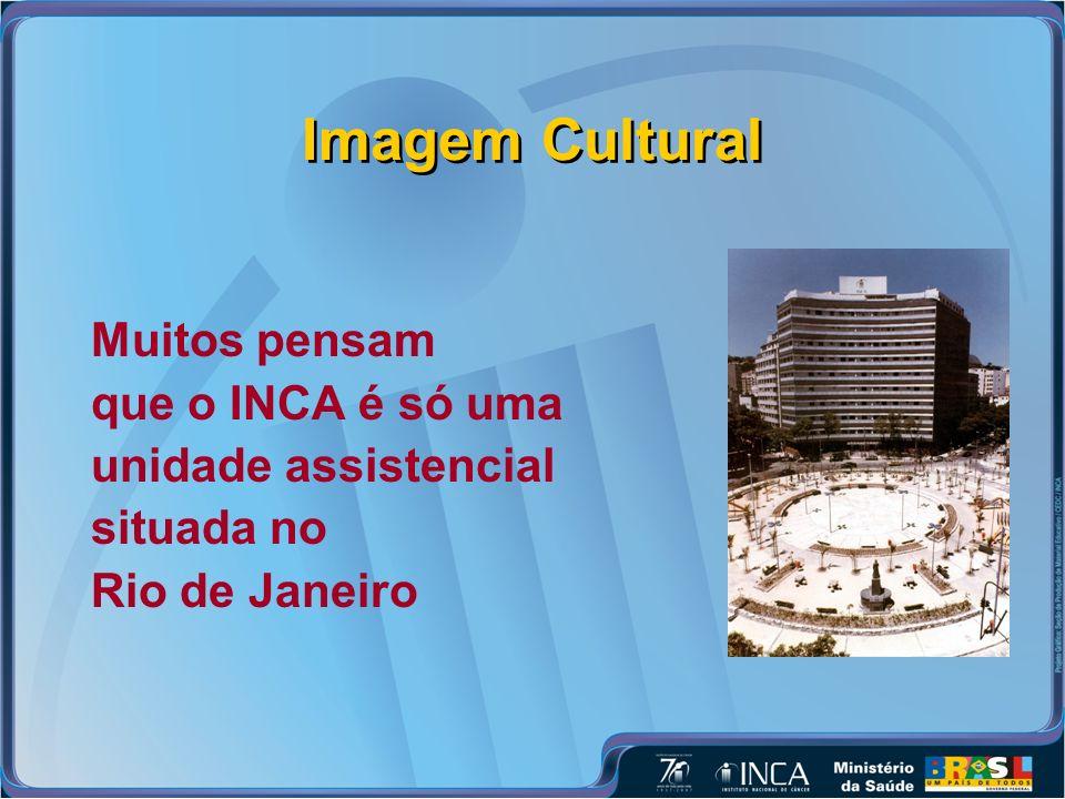 Imagem Cultural Muitos pensam que o INCA é só uma unidade assistencial